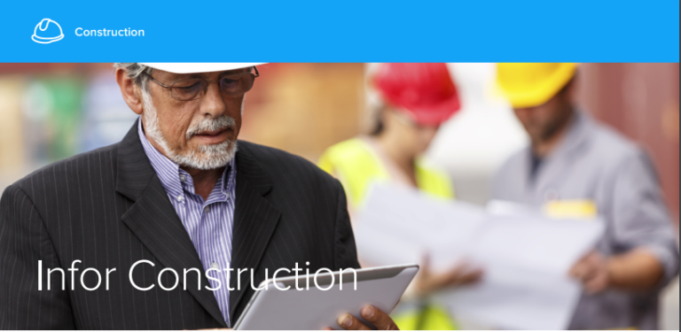 The right software for the construction industry- infor construction